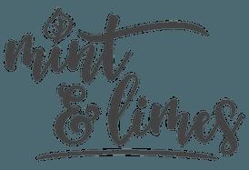 Mint & Limes Logo dunkelgrau auf transparentem Hintergrund optimiert für Retina Displays