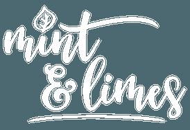 Mint & Limes Logo weiß auf transparentem Hintergrund optimiert für Retina Displays