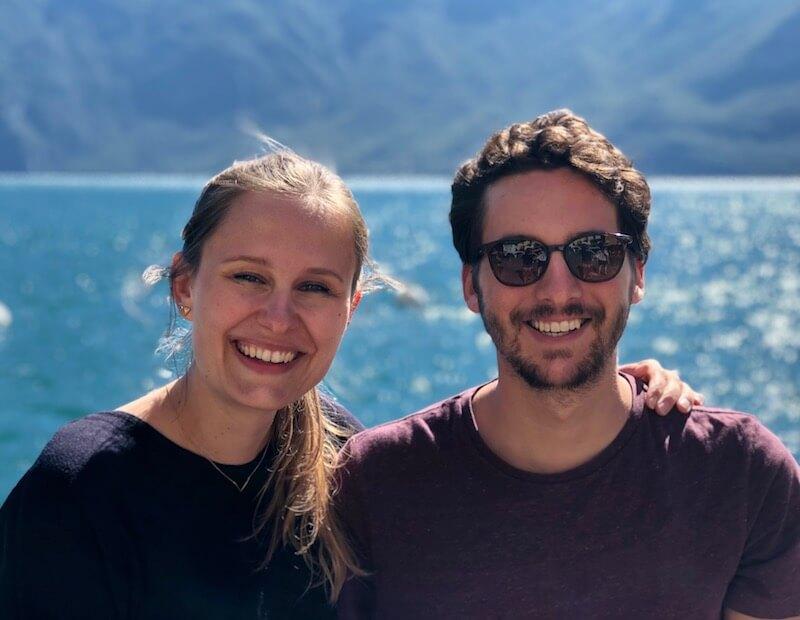 Geschäftsführer Andrea Röhrl und Mario Schneller am Gardasee.