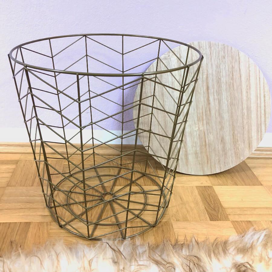 beistelltisch metall rund mint limes. Black Bedroom Furniture Sets. Home Design Ideas