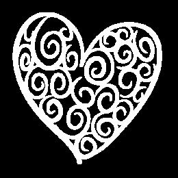 Weißes Herz mit transparentem Hintergrund